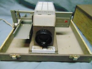 vintage Bell & Howell model 706 Headliner brown color w/ case USA 325 Watts 300W