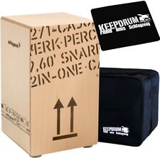 Schlagwerk CP 404 Natur 2inOne Snare Cajon Large + Keepdrum Gig Bag + Pad CP-01