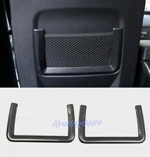 Carbon Fiber Rear Seat Back Storage Frame Trim For Range Rover Sport 2014-2017