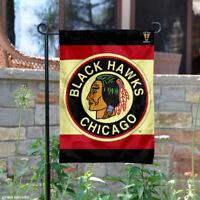 Chicago Blackhawks Vintage Retro Garden Flag and Yard Banner