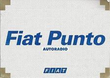 FIAT   Autoradio   Betriebsanleitung   für  Punto  1999  Bedienungsanleitung  RN