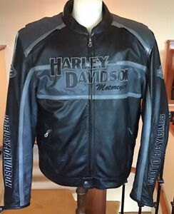 HARLEY DAVIDSON Men's 2XL Classic Cruiser B&S Leather Jacket in Great Condition
