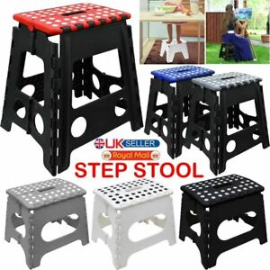 Large Step Stool Heavy Duty Multi Purpose Folding Anti-Slip Home Kitchen 150KG