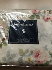 Ralph Lauren Shabby Cottage Meadow Way Ivory Rose Floral Sheet Twin Flat