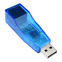 USB 2.0 To LAN RJ45 Ethernet Network Card Adapter 10/100Mbps blue for PC Android