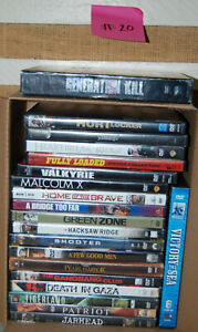 Estate Lot #20 DVD Military/War 20 Different movies!