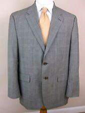 Ralph Lauren Blazer 42R Black White Plaid Wool Cashmere 2 Buttons Sport Jacket