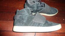 mens ADIDAS TUBULAR black suede sports shoes US12 UK11.5