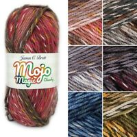 James C Brett Mojo Magic Chunky Acrylic Yarn Knitting Crochet Craft 100g Ball