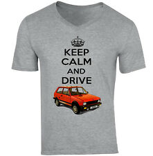 ZASTAVA YUGO KEEP CALM - NEW COTTON GREY V-NECK TSHIRT