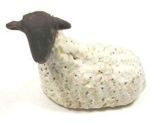 Harlech Pottery Lamb Miniature Clay Pottery Figure Farmhouse Animal Signed