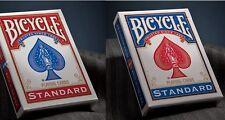 2 mazzi Carte Bicycle Standard index rosse e blu formato poker +2 CARTE MAGICHE
