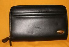 Etienne Aigner Black Leather Wallet Clutch