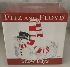 Fitz and Floyd Snow Days Basket Small Serving Candy Dish With Original Box