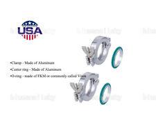 2Sets KF-25 Aluminum Vacuum Clamps + Centering FKM viton O-rings Vacuum Part USA