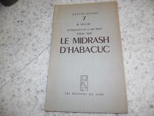 1951.Manuscrits Mer morte.Midrash d'Habacuc.Delcor