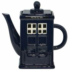 Collectable Novelty Kitchen Teapot Dr Who Police Box China Tea Pot for collec...