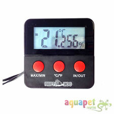 Reptile LCD Digital Thermometer + Hygrometer Combined with Remote Probes