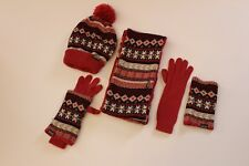 Women's Muk Luks Eternity Scarf, Hat, Gloves, and Arm Warmers Set