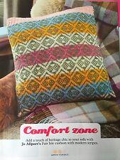 KNITTING PATTERN Fair isle Patterned Cushion Cover Striped Sofa Cushion PATTERN