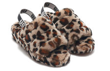 UGG Fluff Yeah Slide Leopard Amphora Fur Slipper Sandal Women's sizes 5-11/NEW!!