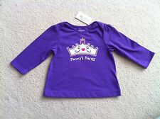NWT Children's Place Girl's 6-9 Month Mommy's Princess Graphic Tee Purple