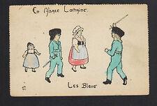 en ALSACE-LORRAINE / ENFANTS au JEU DE GUERRE illustré par DELALAIN en 1918