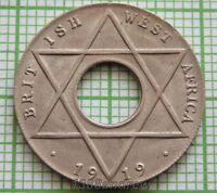 BRITISH WEST AFRICA GEORGE V 1919 H 1/10 PENNY, UNC