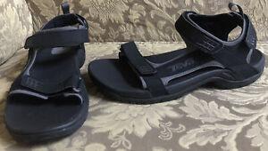 Teva MINAM Men Rugged River Black/ Gray Waterproof Slingback Sandals Sz 9 M