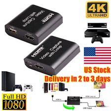 USB HDMI Video Capture Card Loop Out Live Streaming Broadcast HD 1080P US Stock