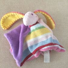 Happy Horse Dog or Bunny Lovey Security Blanket USED Long Yellow Ears Pink Nose