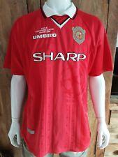 Vintage Mens Manchester United Football Shirt Beckham 7 Original Umbro Top