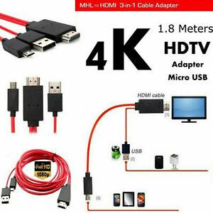 Adattatore cavo MHL Micro USB a HDMI 1080P HD TV per Samsung Android