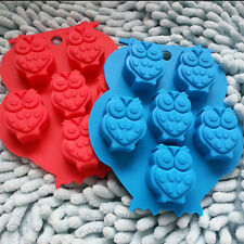 Owl Silicone Mold Fondant Cakes Chocolate Decorating Baking Tools Soap Mold Best