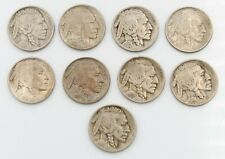 9 U.S. BUFFALO NICKELS 1913 TYPE 1, 1913 TYPE 2, 1914-1919, AND 1921  NR#8148-2