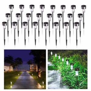4/10pc Garden Spotlight Solar LED Outdoor Spike Lights Path Yard Landscape Lamp