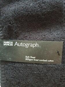1 X Luxury  100% Egyptian Cotton Bath  Sheet 800GSM. Black.