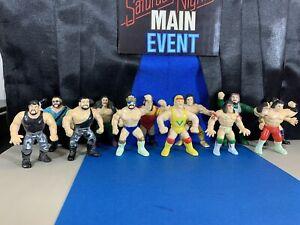 WWF Hasbro Knockoff Mini Figures Set Of 12!! Hogan Warrior Macho Jake Bossman