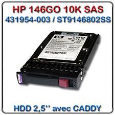 """Disque Dur HP SAS 146Go 6G 10K tpm 2.5"""" (518216-002) HDD 0B24372"""