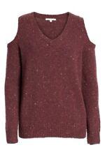 Rebecca Minkoff New cold shoulder sweater women sz small BNWT $200 merino wool