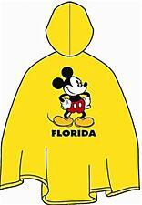 Disney Adult Yellow Mickey Mouse Florida Rain Poncho Keep Dry