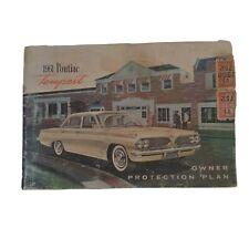 Owner Protection Plan 1961 Pontiac Tempest Original Warranty Vintage Guide