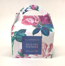 Personalised Vintage Rose Floral Wedding Party Favour Gift Box 1ST CLASS POST!