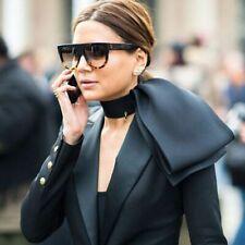 Oversize Sunglasses Women Shades Men Retro Flat Glasses Design Vintage Female