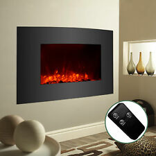 Large 1500W Electric Fireplace Wall Mount & Standing w/ Remote Adjustable Heater