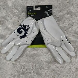 Nike Vapor Jet 5.0 NFL L.A. Rams Receiver Football Gloves Size Large CK2859-139