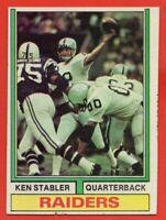 1974 Topps #451 Ken Stabler LOW GRADE PIN HOLE Oakland Raiders HOF AP FREE S/H