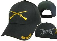 US Army Infantry Division Rifles Shadow Black Embroidered Cap Hat CAP614 (TOPW)