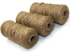 PACK OF THREE (3) NATURAL JUTE MOSSING TWINE - 3 x 75m SPOOL - 225m IN TOTAL