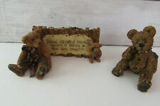 """Boyds Bears """"The Sign"""" 1993 & Humbolt The Simple Bear 1997 No Boxes"""
